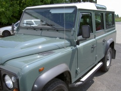 Land Rover Defender 3 and 5 door 1983 on Front Window Deflector (pair)
