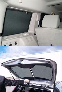 Mercedes Benz R Class 5 door 2005 on Privacy Sunshades