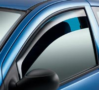Front window deflector for Hyundai Starex H1 models with electric mirrors from 1998 to 2007 and Hyundai Starex Pickup Libero 2 door models from 2000 to 2007, sold as a pair.  (pair)