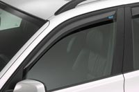 Front window deflector for Ford Fiesta 5 door models from October 1995 to 2001, Ford Fiesta Courier models from October 1995 onwards and Mazda 121 5 door models from March 1996 to 2003