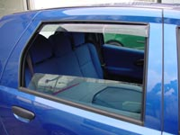 Chevrolet Aveo 5 door from 2011 on, rear wind deflectors ( pair )